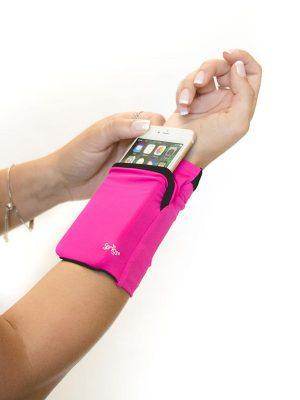 Banjees wrist wallet 2-pocket pink
