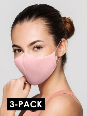 Bloch A001AP 3-pack kasvomaski aik. light pink